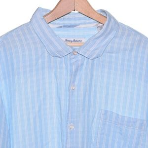 Tommy Bahama 3XL Blue White Stripe Long Sleeve